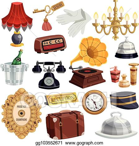 Hotel clipart vintage hotel. Vector stock staff icon