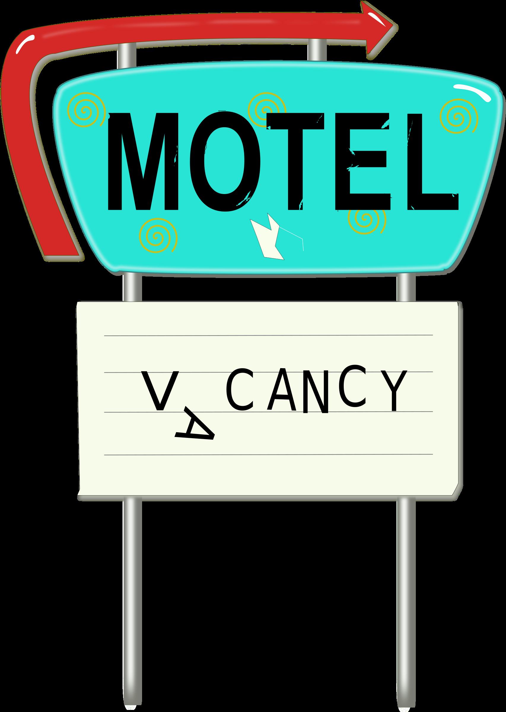 Hotel clipart vintage hotel. Motel sign big image