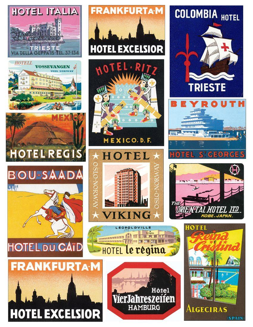 Label digital download clip. Hotel clipart vintage hotel