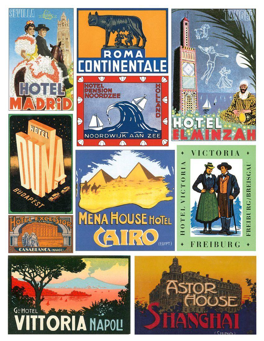 Hotel clipart vintage hotel. Label digital download clip