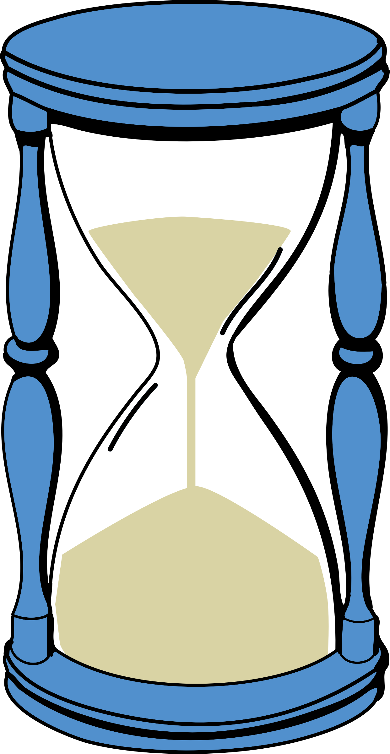 With sand big image. Hourglass clipart