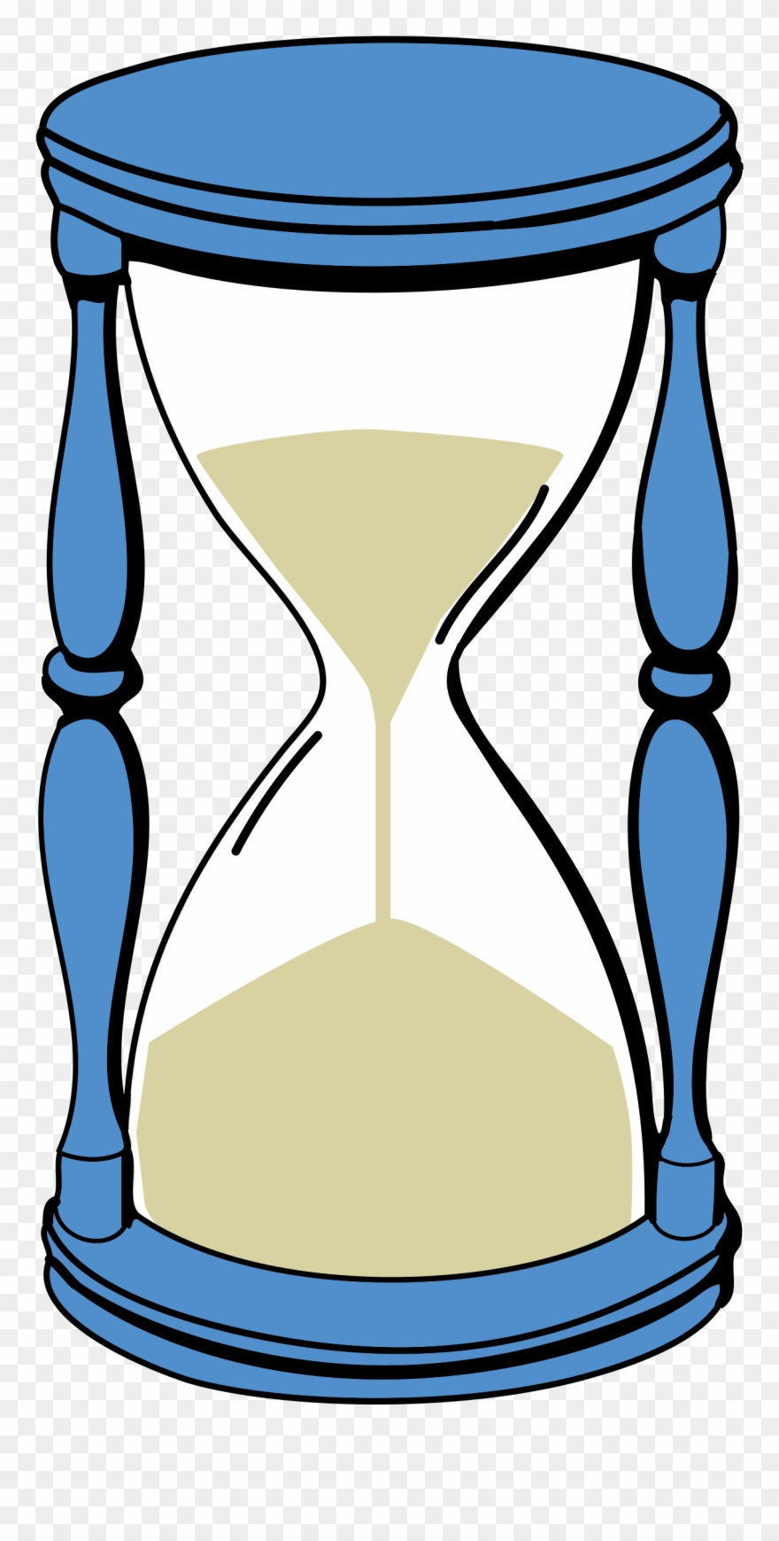 Patience clipart time. Hourglass capsule sand timer