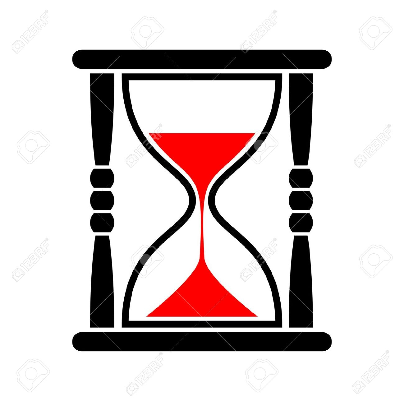Hourglass clipart. Red