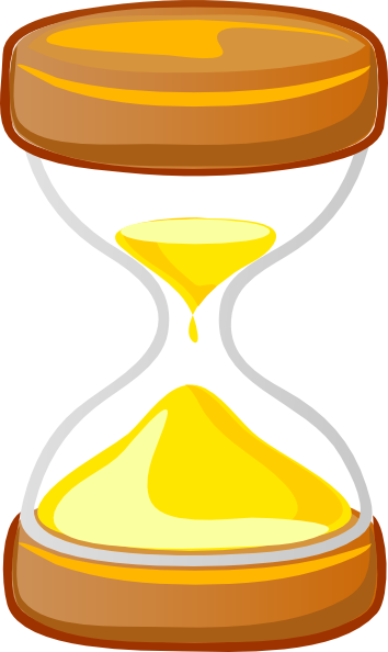 Animated . Hourglass clipart