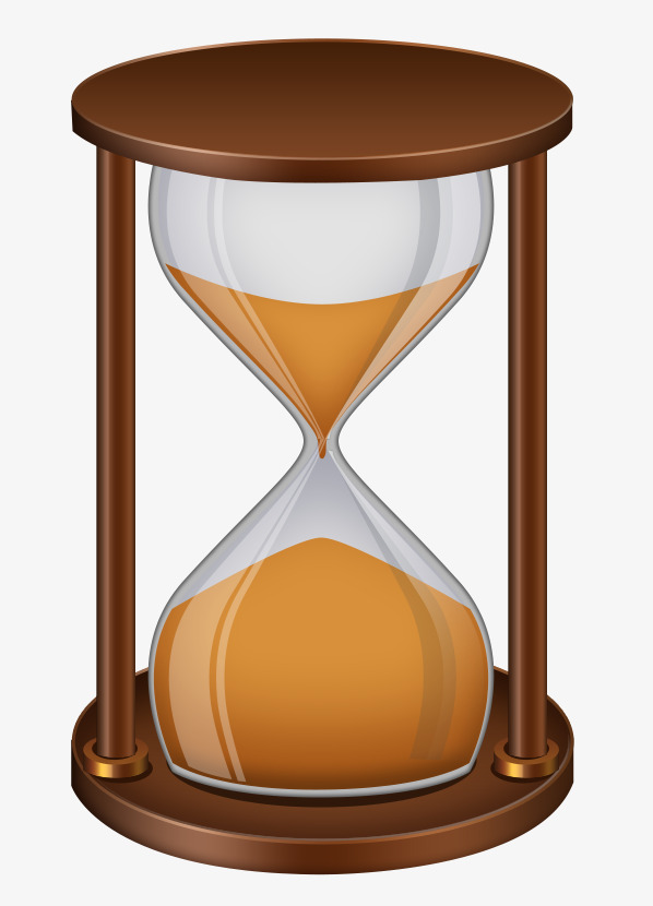 Brown countdown timekeeping png. Hourglass clipart