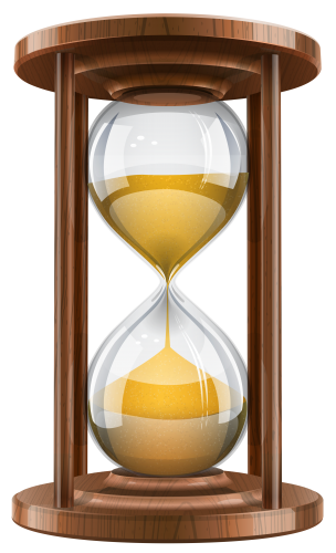 Wooden sand clock png. Hourglass clipart