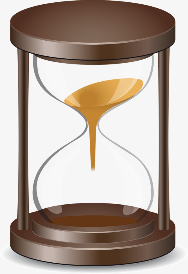 Time old fashioned sand. Hourglass clipart