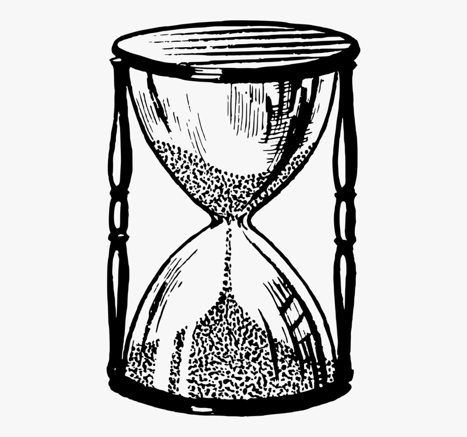 Drawing computer icons silhouette. Hourglass clipart basic