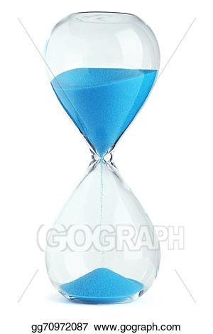 Stock illustration illustrations . Hourglass clipart blue