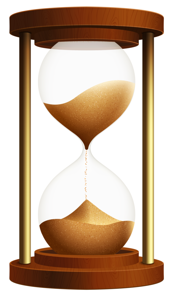 Sand clock png . Hourglass clipart blue
