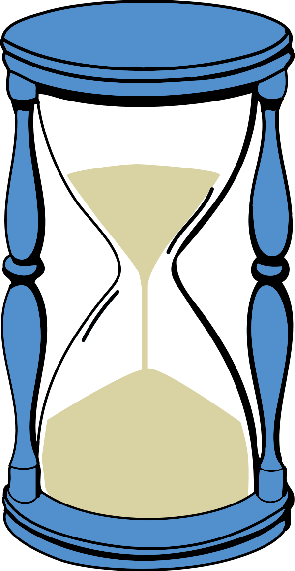 With sand vector clip. Hourglass clipart blue
