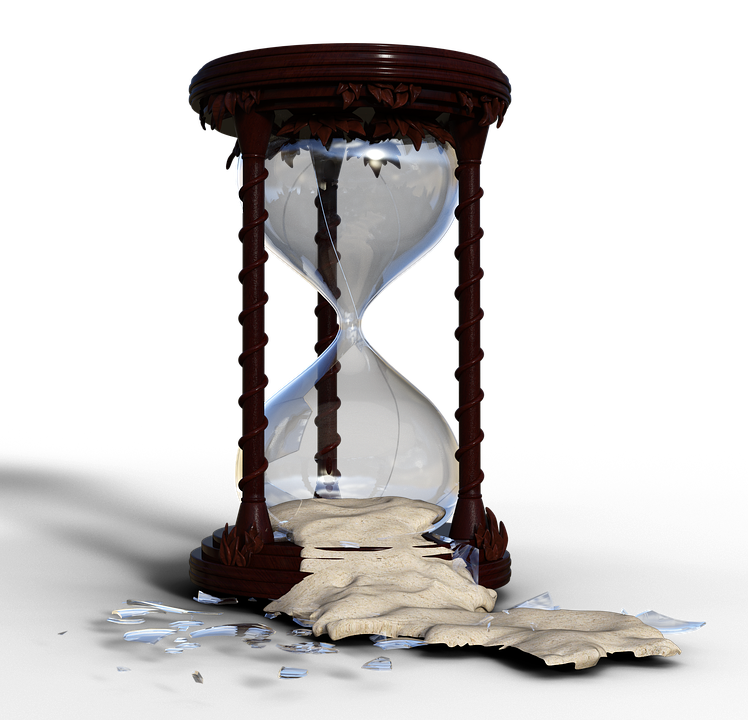 Free photo time flow. Hourglass clipart broken