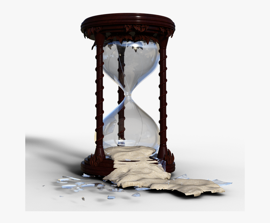 Hourglass clipart broken. Free photo time flow