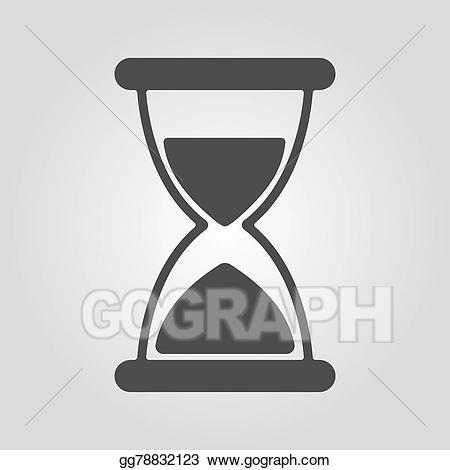 Vector stock the icon. Hourglass clipart chronometer