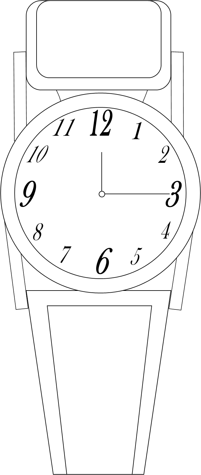 Watch bw free images. Hourglass clipart chronometer