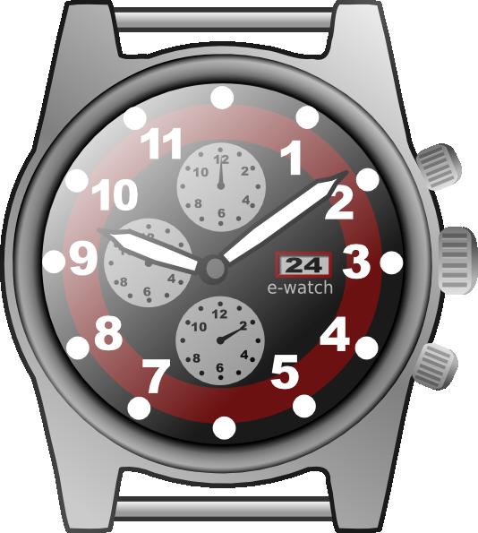 Chronograph watch clip art. Hourglass clipart chronometer