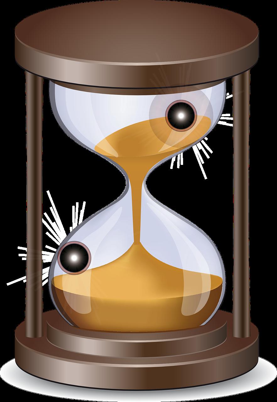 hourglass clipart cute