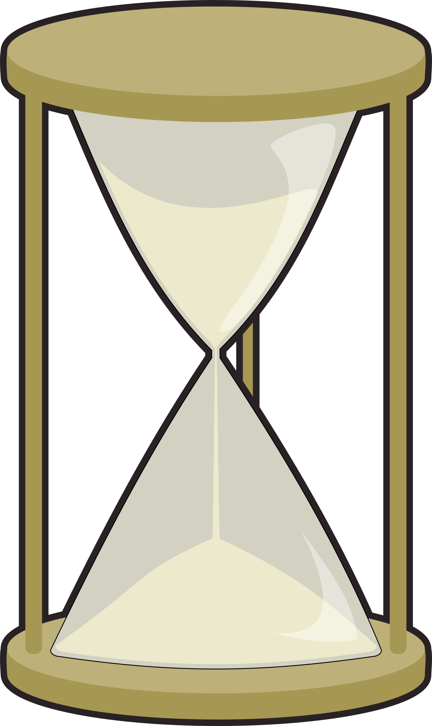 collection of png. Hourglass clipart cute
