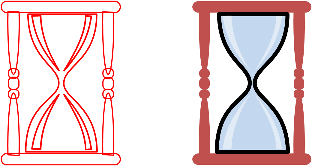 May powerpointy hrglass . Hourglass clipart empty