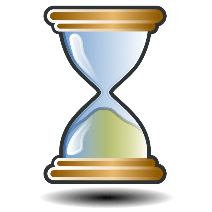 The cost of free. Hourglass clipart empty