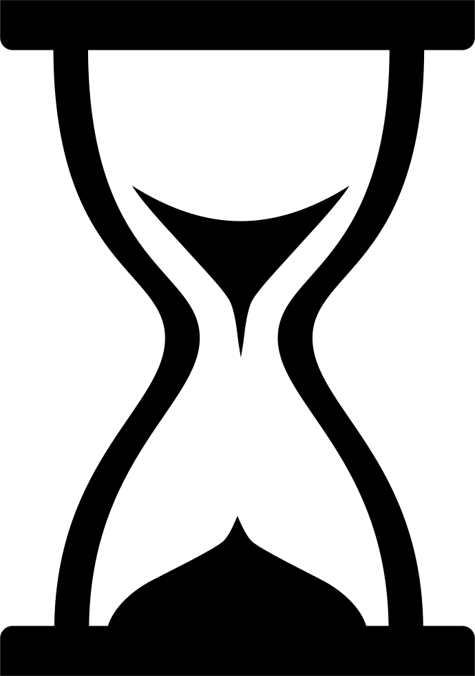 Hourglass clipart empty. Svg png icon free