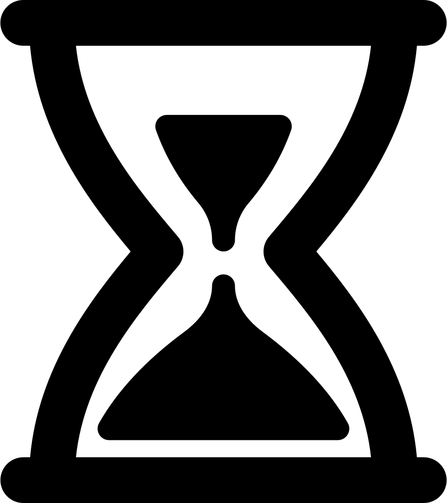 Svg png icon free. Patience clipart hourglass