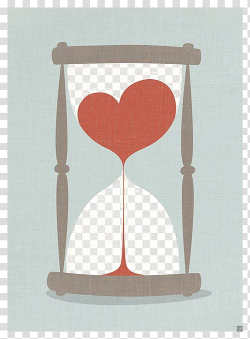Clock time sand idea. Hourglass clipart heart