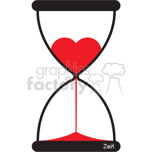 Hourglass clipart heart. Of love royalty free