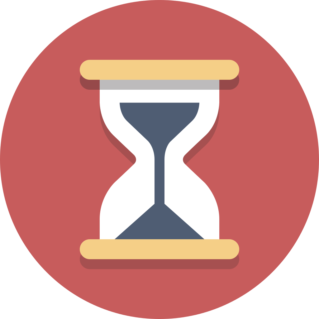 Hourglass clipart hour glass. File circle icons svg