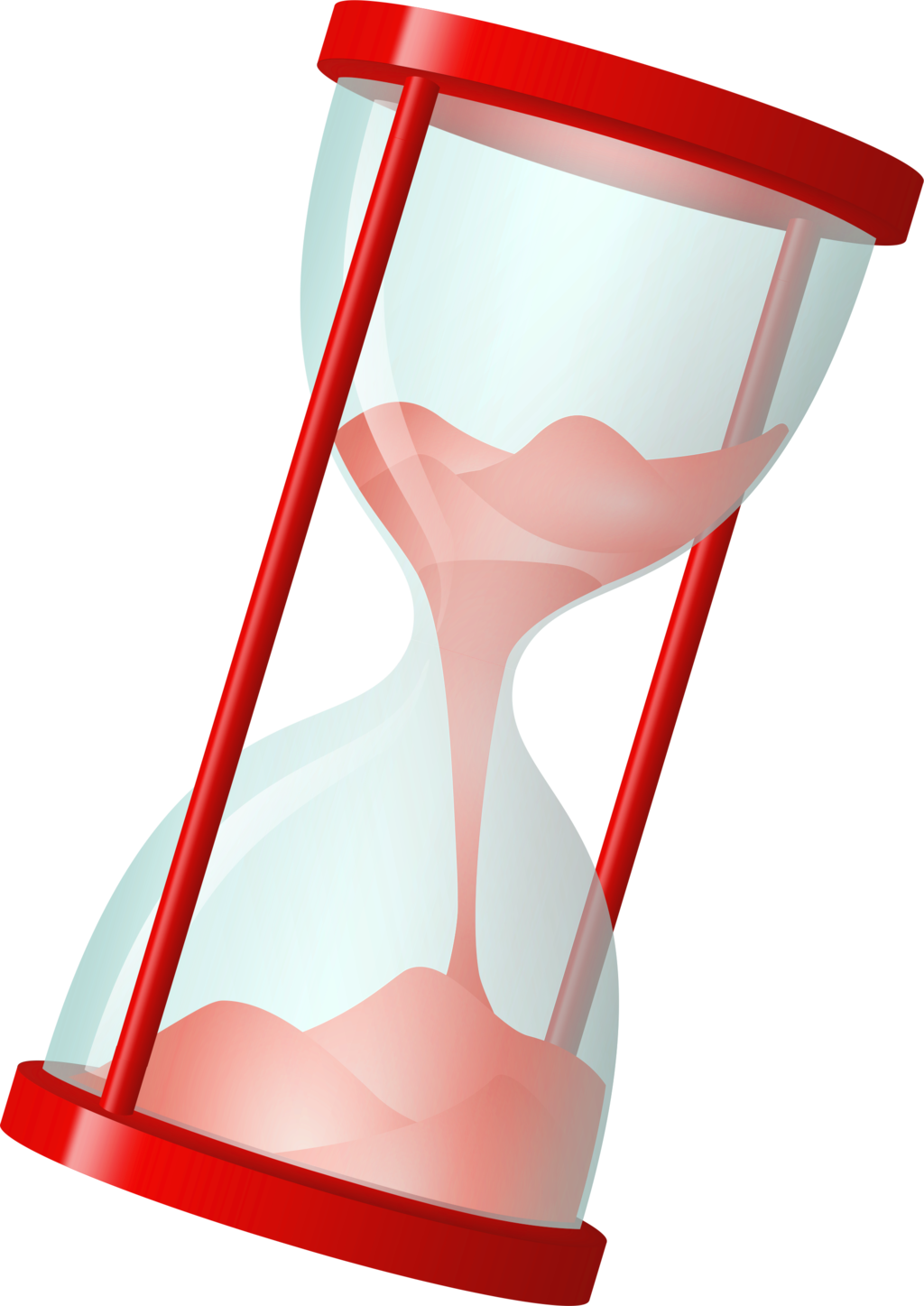 collection of hourglass. Raindrop clipart red