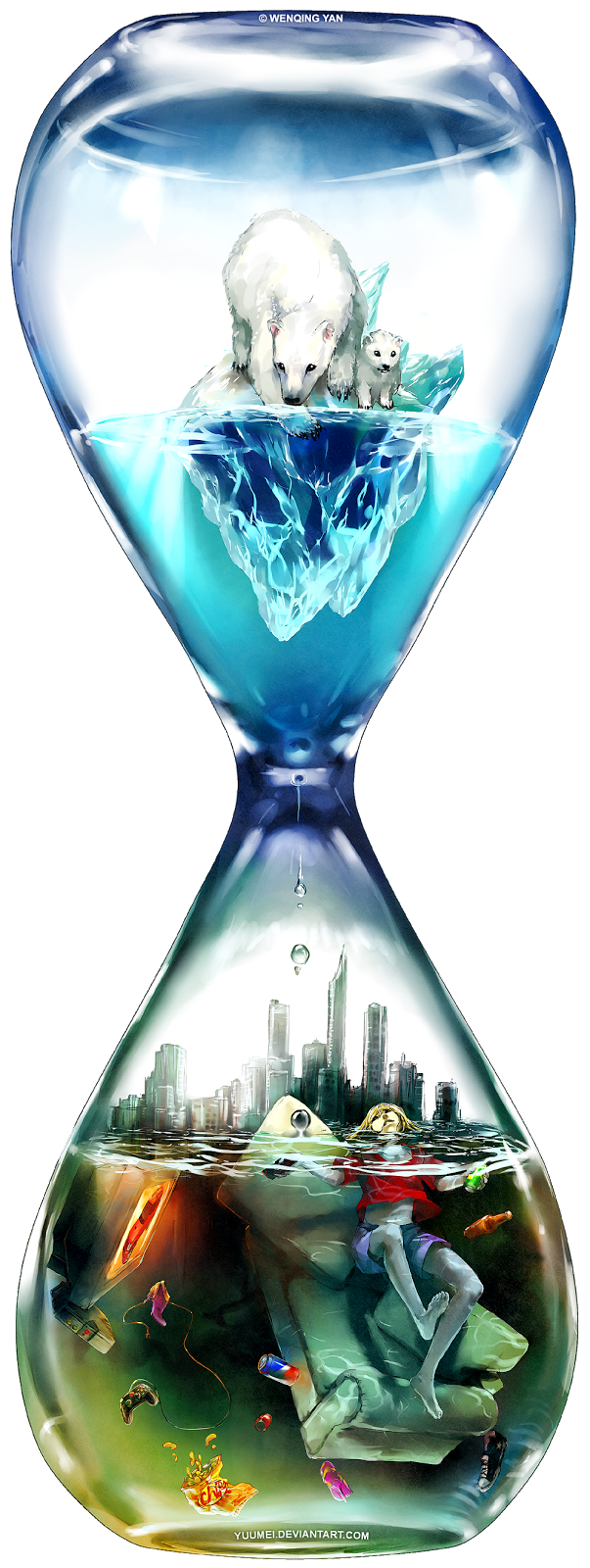 Hourglass clipart inevitable. Wenqing yan yuumei illustrations