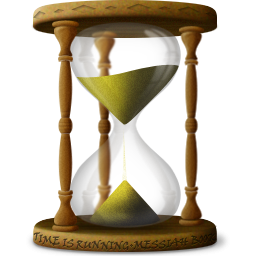 D icon png image. Hourglass clipart old