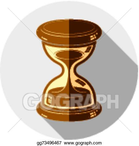 Hourglass clipart old. Vector stock fashioned simple