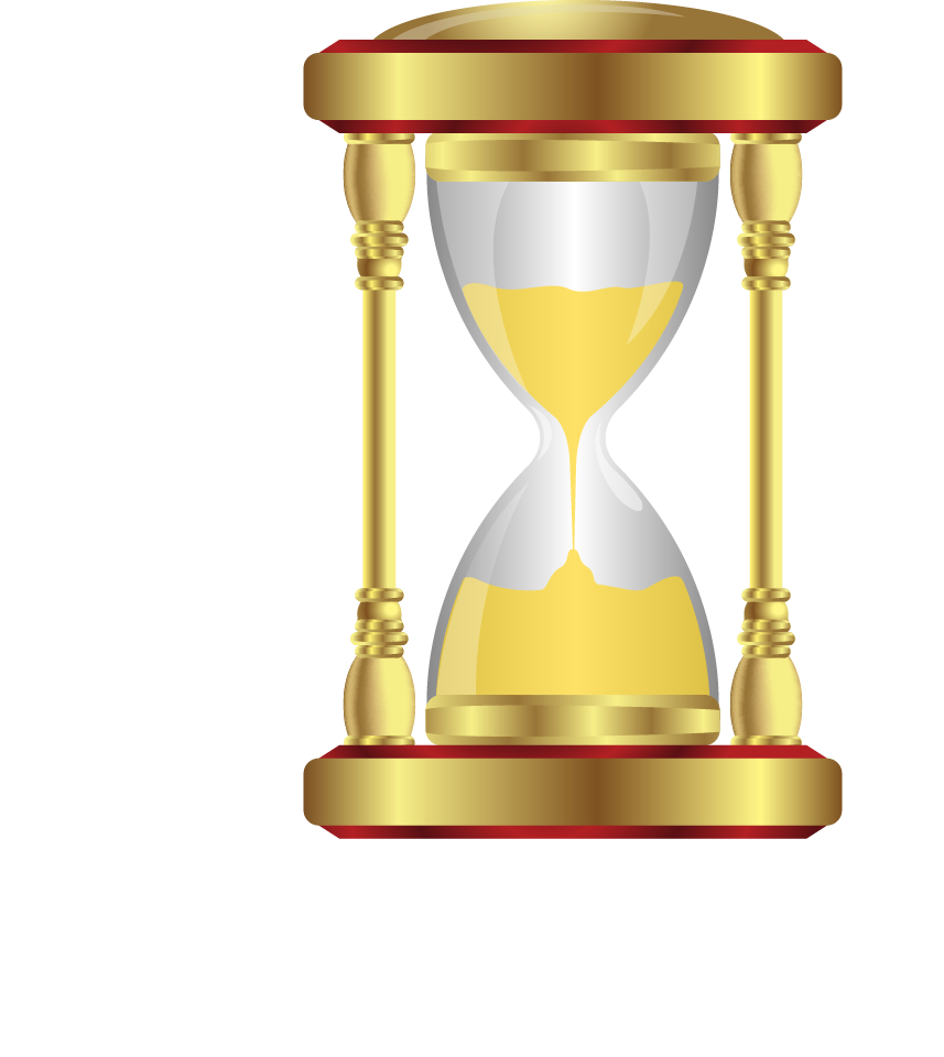 Hourglass clipart old. Time clip art golden
