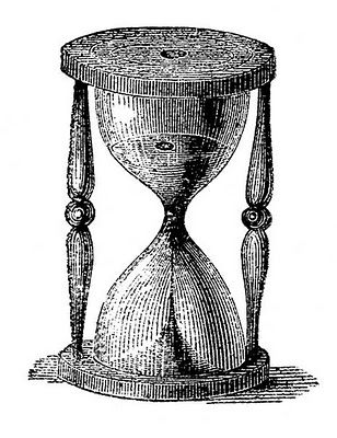 Vintage clip art steampunk. Hourglass clipart old