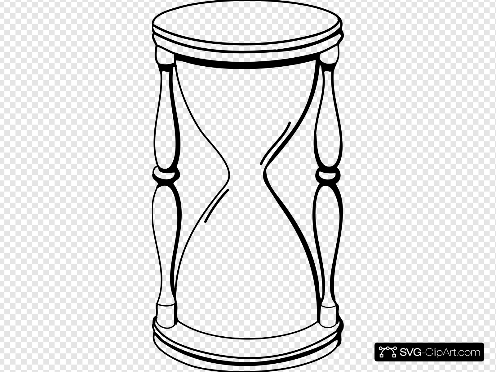 Hourglass clipart outline. Clip art icon and