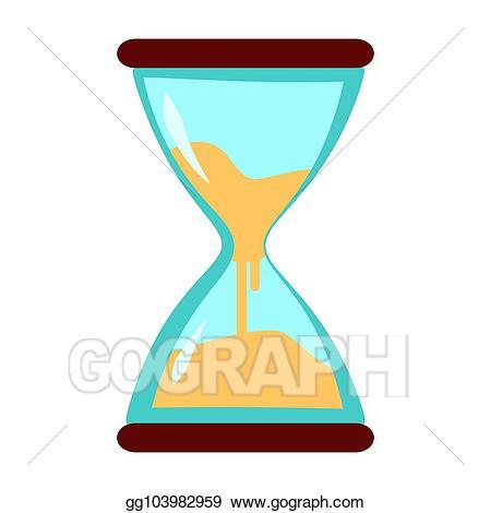 Hourglass clipart sand clock. Vector art eps gg