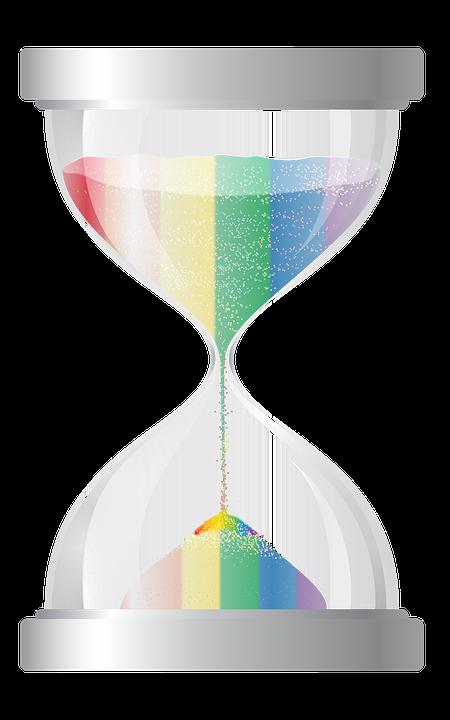 Free photo rainbow illustration. Hourglass clipart sand timer