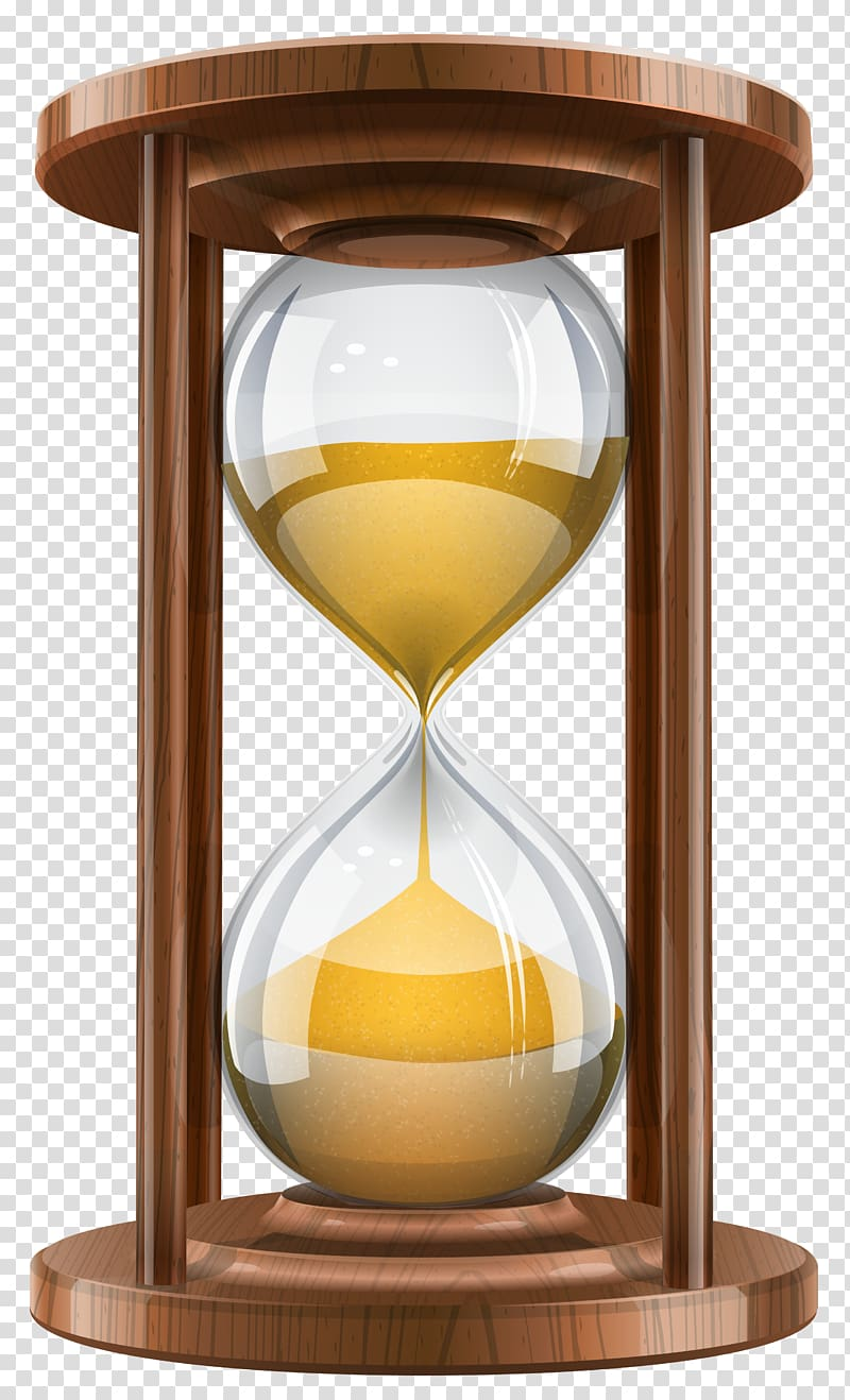 Brown hour glass clock. Hourglass clipart sand timer