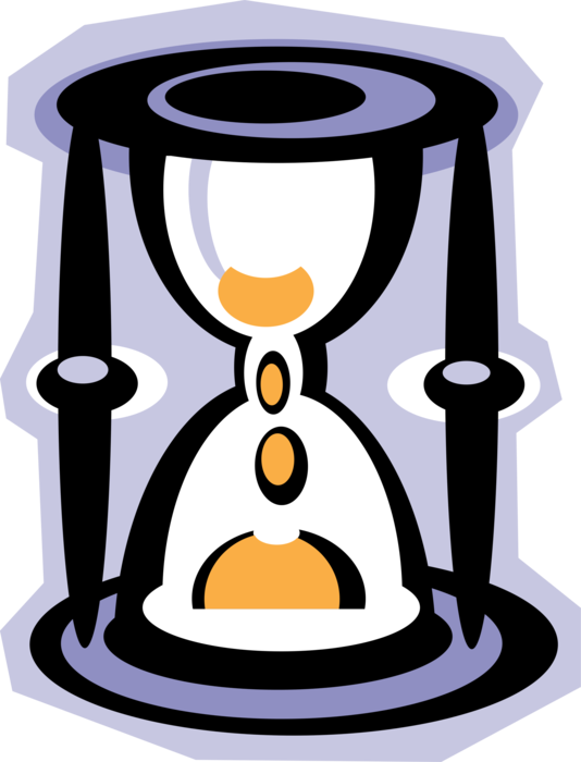 Or measures time vector. Hourglass clipart sandglass