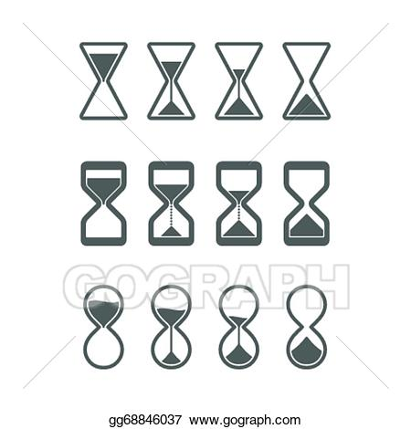 Hourglass clipart sandglass. Vector art icons drawing