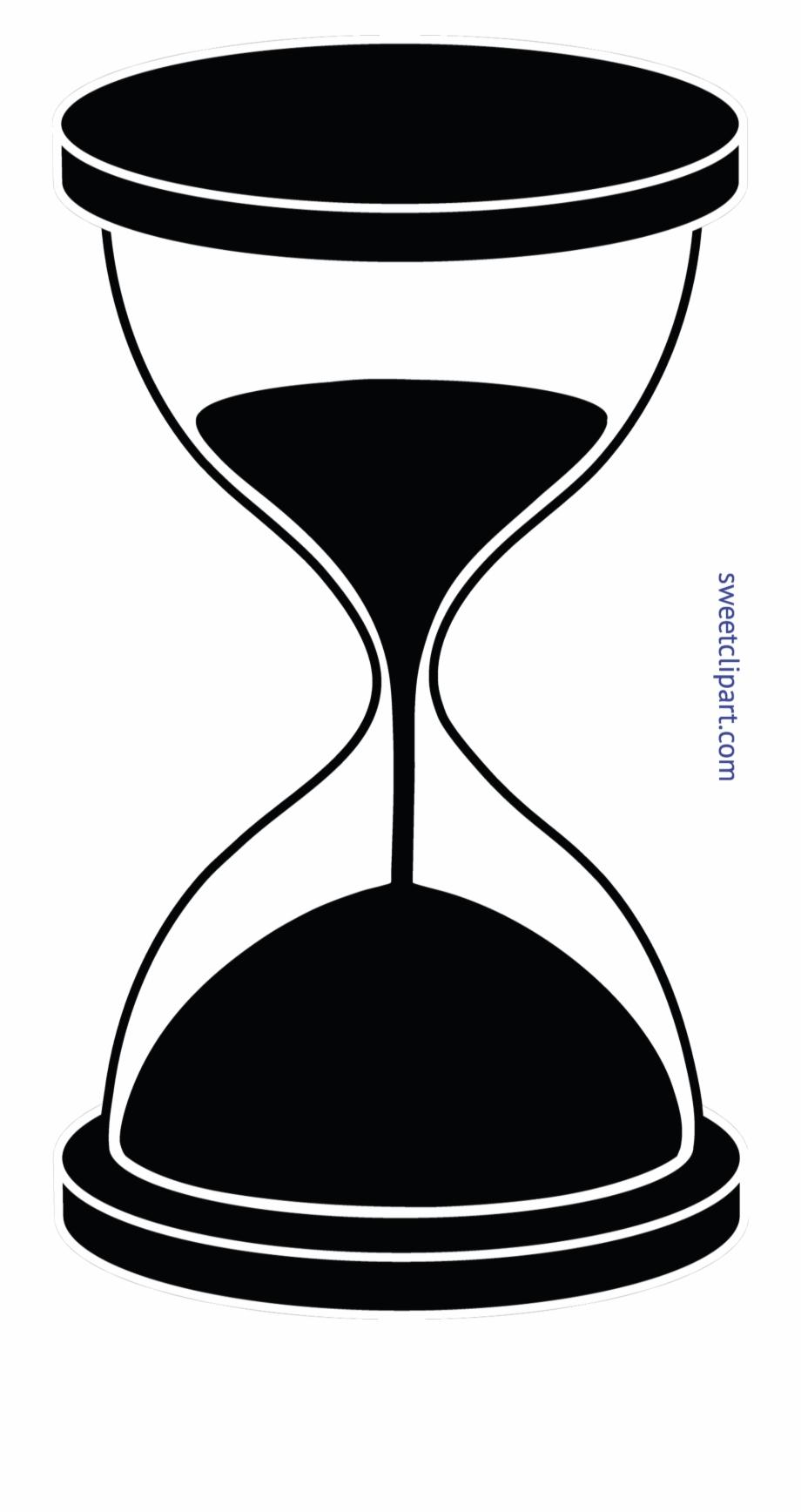 Clip art . Hourglass clipart silhouette