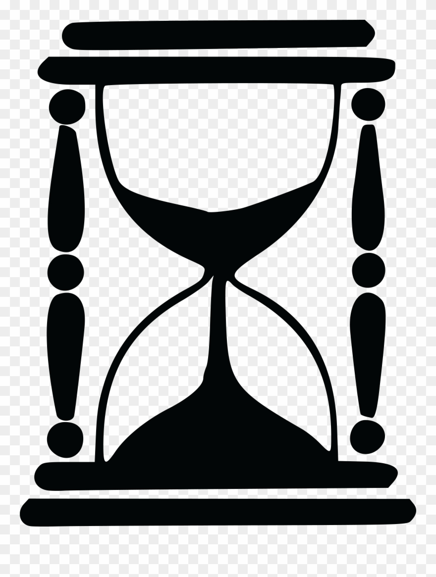 Hourglass clipart silhouette. Free of an png