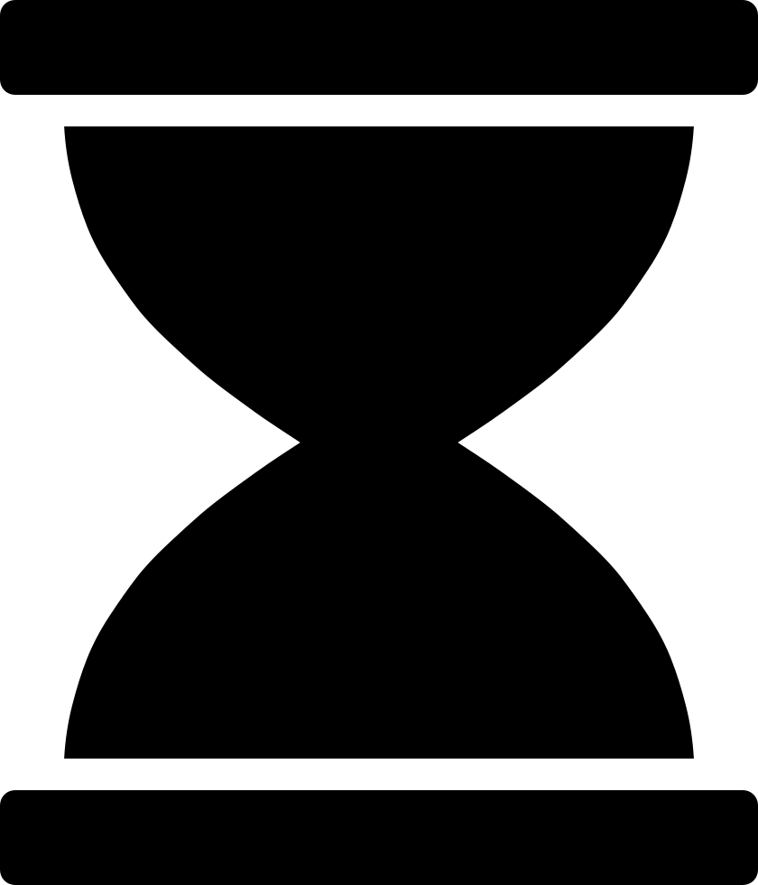 hourglass clipart simple