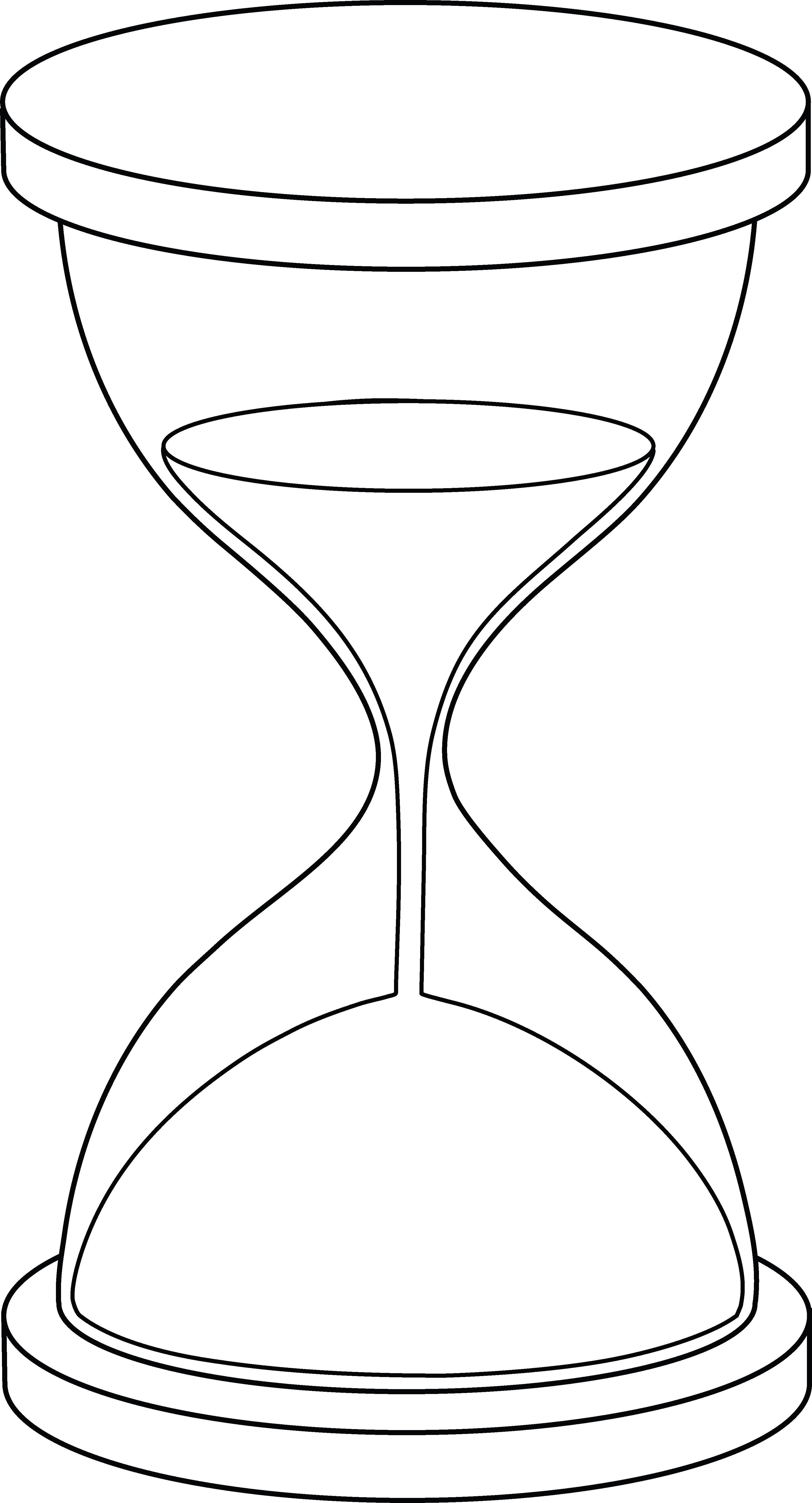 Hourglass clipart simple. Lineart birthdays pinterest line
