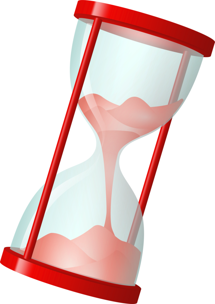 Stock red png by. Hourglass clipart simple
