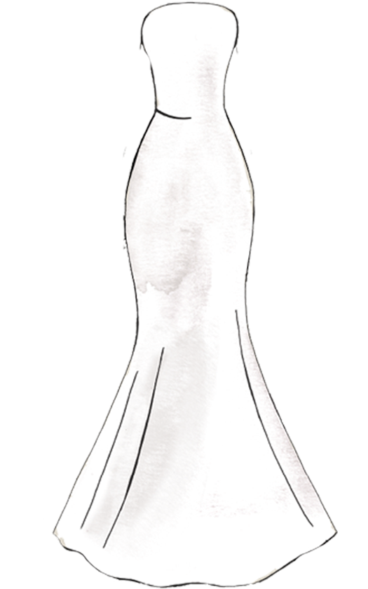 Bridal gown silhouettes png. Hourglass clipart sketch