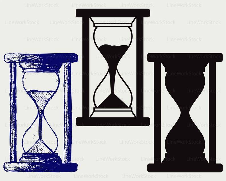Hourglass clipart svg. Silhouette cricut cut files