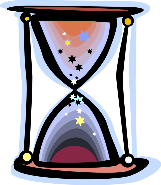 Hourglass clipart vector. Or sandglass measures time
