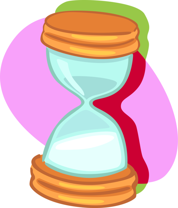 Or sandglass measures time. Hourglass clipart vector